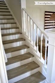 love white stairs with a dark chocolate brown top exactly how we