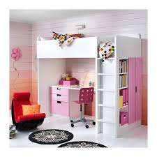 Ikea Bunk Bed With Desk Stuva Loft Bed With 3 Drawers 2 Doors White Pink Ikea Dream