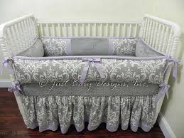 Lavender And Grey Crib Bedding Custom Crib Bedding Lavender And Gray Baby