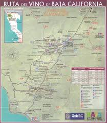 Baja Map Valle De Guadalupe Wineries Maplets
