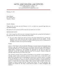 legal advice letter sample marriage wife