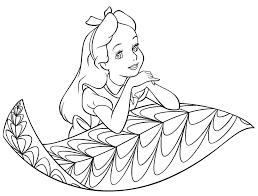 alice wonderland coloring pages free printables girls