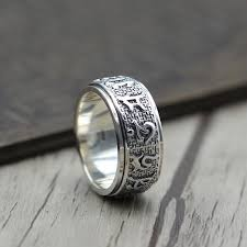 old rings silver images S925 sterling silver vintage six buddhist mantra rotating jpg