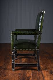 Modern High Back Dining Chairs French Green Leather High Back Arm Dining Chair Mecox Gardens