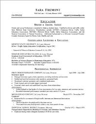 Sample Resume For Teaching by Cv Writing Teaching Job