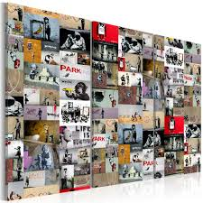 canvas wall art art of collage banksy iii graffiti street art