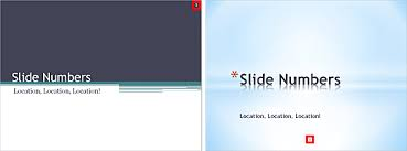 changing location of slide numbers in powerpoint 2010 powerpoint