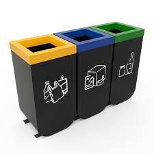 poubelle de cuisine tri s駘ectif 3 bacs nykoping poubelle de tri à 3 collecteurs 50l poubelle de tri tri