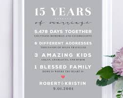 15th anniversary gifts 15 year anniversary gift for couples 15th anniversary gifts