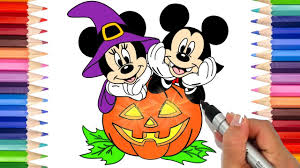 Halloween Mickey Mouse Coloring Pages by How To Draw Mickey And Minnie Mouse Halloween Coloring Pages For