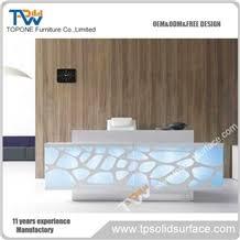 Modern Led Desk L Custom Design L Shape Modern Led Light Acrylic Solid Surface