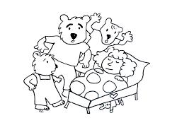 coloring pages coloring goldilocks tree bears jpg