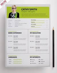 Design Resume Templates Free Designer Resume Template Free Psd Psdfreebies Com
