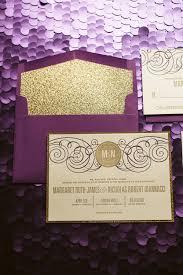 purple and gold wedding invitations purple gold glitter wedding invitation gold glitter wedding