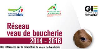 chambre d agriculture de bretagne réseau veau de boucherie publication des résultats 2014 2016