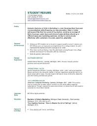 sle resume template for college students resume template for college student resume sle