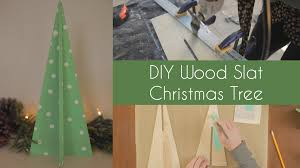 diy wood slat tree