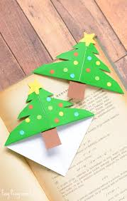 corner christmas tree christmas tree corner bookmarks origami for kids easy peasy