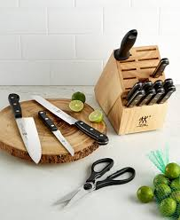 zwilling kitchen knives zwilling j a henckels knife block set created for macy s 15