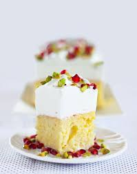 three milk cake with pomegranate u0026 pistachio a beautiful