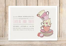bridal tea party invitation bridal shower tea party invitations template best template