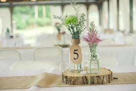 simple center pieces rustic wedding real wedding photos simple centerpieces 1