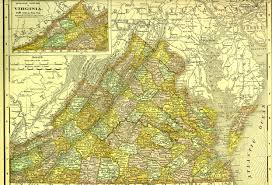 Map Of Virginia by Discovering Family Histories Usa Geographics