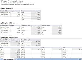 Excel Payroll Calculator Template Tip Calculator Template Tip Calculator Excel Template