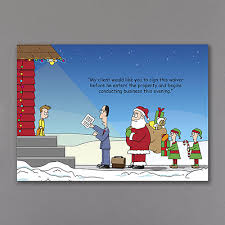 signed waiver funny lawyer holiday cards http