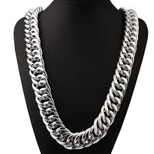 curb link necklace silver images Heavy yellow white gold gf double curb chain mens huge necklace jpg