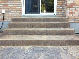 Seamless Stamped Concrete Pictures by Rough Cut Stone Stamped Concrete Steps With Stamped Step Faces In