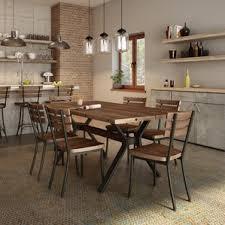 Industrial Dining Room by Modern U0026 Contemporary Industrial Dining Set Allmodern