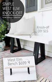 Bench Outdoor Furniture West Elm Bench Knock Off Home Made By Carmona