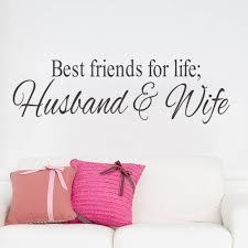 Bedroom Wall Art Words Aliexpress Com Buy Husband U0026wife Best Friends Quotes Wall Decal