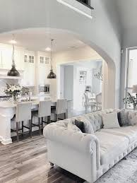 Kitchen And Living Room Designs Living Room Sherwin Williams Repose Gray Luxury Kitchens White
