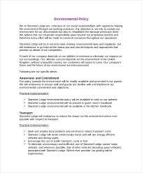environmental policy template 7 free u0026 premium templates