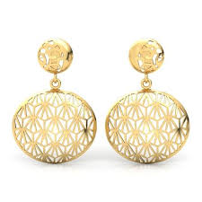 gold earrings 224 2 5 gms gold jewellery designs buy 2 5 gms gold jewellery