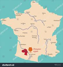 Dijon France Map by Map Region Armagnac France Stock Vector 203653960 Shutterstock
