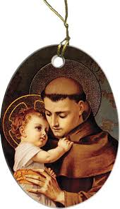 st anthony with jesus ornament catholic to the max