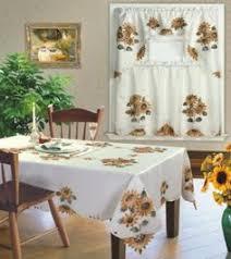 Sunflower Curtains Kitchen by 3 Pc Sunflower Kitchen Curtain Set Valance Tiers Country Garden