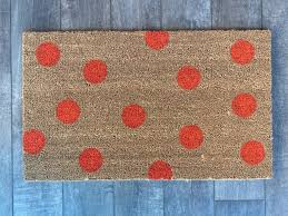polka dot welcome mat pick your colors hand painted doormat creates
