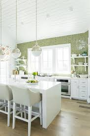 green kitchen backsplash tile white kitchen with green herringbone tiles contemporary