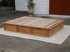 Platform Bed Plans Drawers by Full Size Bed Frame With Storage Plans Woodworking Pinterest
