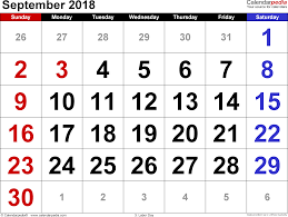 september 2018 calendar template monthly printable calendar