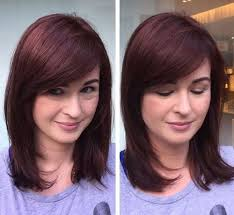 just above the shoulder haircuts with layers 11 best medium length haircuts with bangs images on pinterest