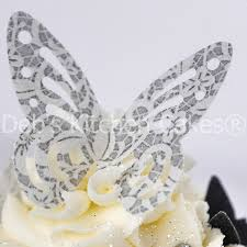 and vintage design butterfly cake decorations