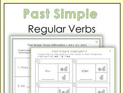 past simple tense regular verbs worksheets by miss jelena