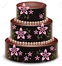 design a cake vector design of a big delicious chocolate cake royalty free