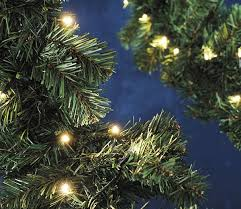 Outdoor Garland Lights 5m Outdoor Garland With Led Lights Gardensite Co Uk