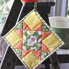 free patterns quilted potholders free knitting quilting sewing embroidery and jewelry patterns